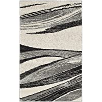 Safavieh Retro Collection RET2691-7912 Modern Abstract Light Grey and Ivory Runner (23 x 11)