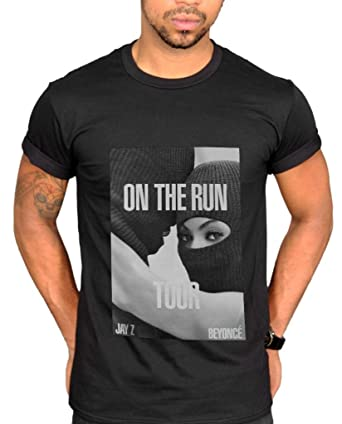 664d2fb2a On The Run Tour Beyonce & Jay Z Graphic T-shirt Clothing: Amazon.co ...