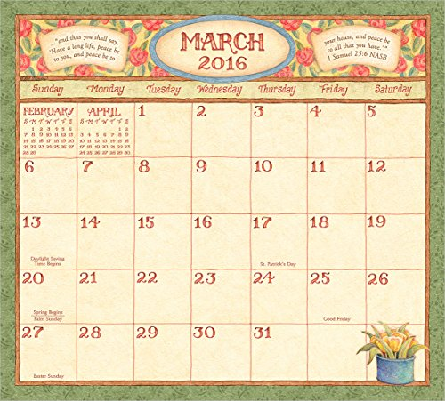Legacy Publishing Group 2016 Magnetic Calendar Pad, Faithful Moments (MCP19728)