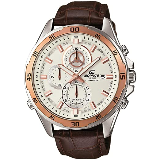 Casio Reloj Analogico para Hombre de Cuarzo con Correa en Cuero EFR-547L-7AVUEF: Casio: Amazon.es: Relojes