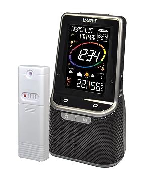 b4af6685b048e3 La Crosse Technology WS6890 Station Météo Colorée avec Enceinte Bluetooth -  Noir