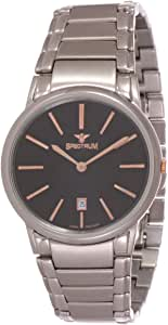 Spectrum Men's Black Dial Stainless Steel Band Casual Watch - S12462M