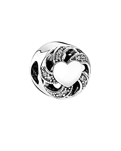 c9ddc106e Image Unavailable. Image not available for. Color: PANDORA 791976CZ Ribbon Heart  Charm