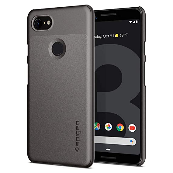 hot sale online 954f2 e7446 Spigen Thin Fit Designed for Google Pixel 3 Case (2018) - Graphite Gray