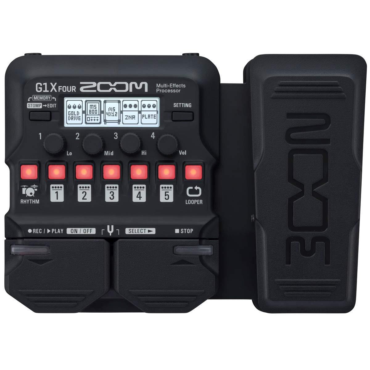 Zoom G1X FOUR - Aparato de efectos para guitarra y adaptador Keepdrum (9 V): Amazon.es: Instrumentos musicales