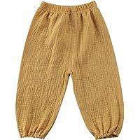 Pantalones Largos para Bebé Recién Nacido Pantalón Vintage Bloomers Suave de Algodón para Niños Niñas Pequeños…