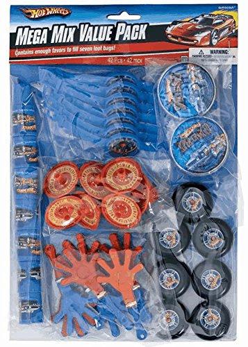 Amscan Hot Wheels Speed City Mega Mix Favor Value Pack, 48-Pieces