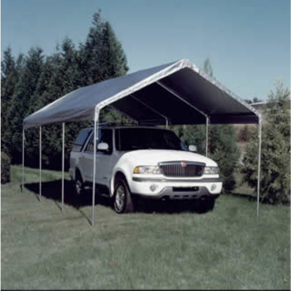 10 Foot x 20 Foot Universal Canopy Silver Top