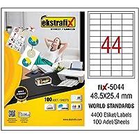 Ekstrafix Fix-5044 Lazer Etiket, Beyaz