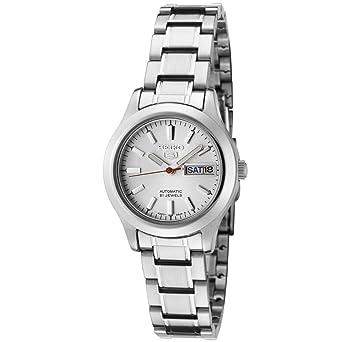 Amazon.com  Seiko Women s SYMD87 Seiko 5 Automatic Light Silver Dial  Stainless Steel Watch  Seiko  Watches fdc99a46a