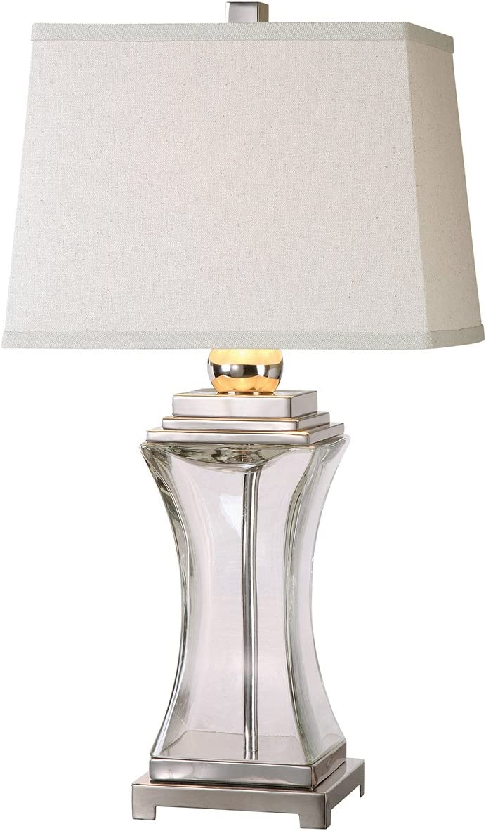 Champagne Clear Uttermost 26160-1 Drustan Glass Table Lamp