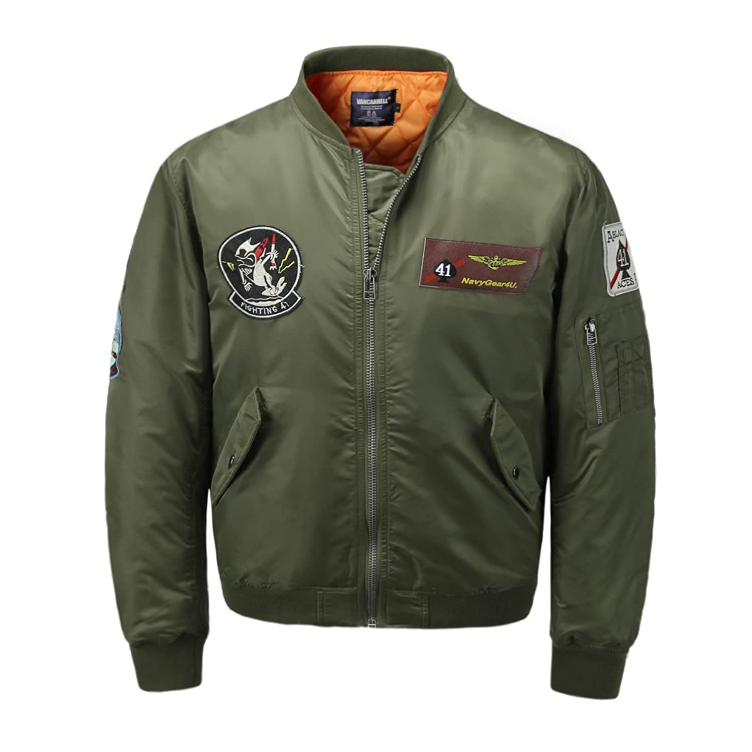 712c23bde3c Top1  AVIDACE Classic Bomber Jacket Men Nylon Quilted with Patches