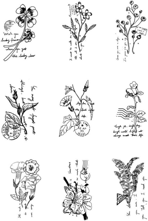 STOBOK 6 St/ücke Pflanzen Blumen Bl/ätter Holz Stempel Vintage Holz Floral Stempel f/ür Karte Machen Handwerk DIY Tagebuch Dekorative Brief Stempel//Zuf/älliges Muster