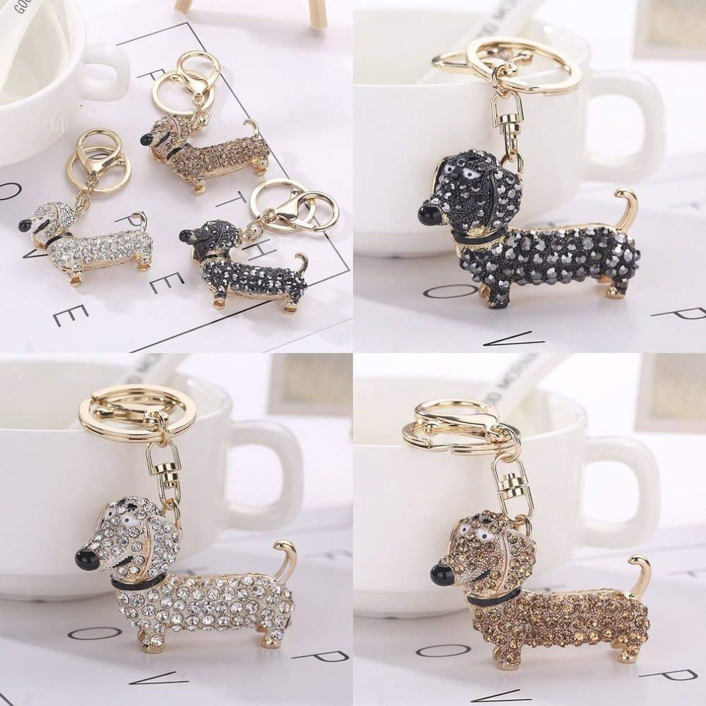 Wall of Dragon Cute Puppy Dog Charm Fashion Keychain Sparkling Crystal Unique Gift and Souvenir Hanging Keys or Automobile Pendants Car Styling by Wall of Dragon (Image #6)