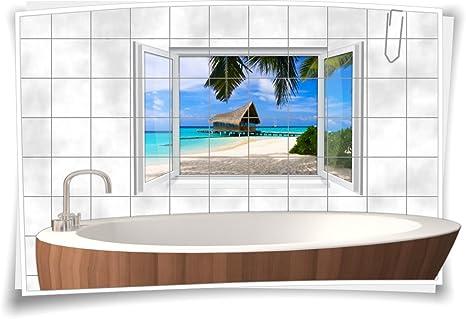 Fliesenaufkleber Fliesenbild Fliesen Aufkleber Sticker Badezimmer Bad Meer