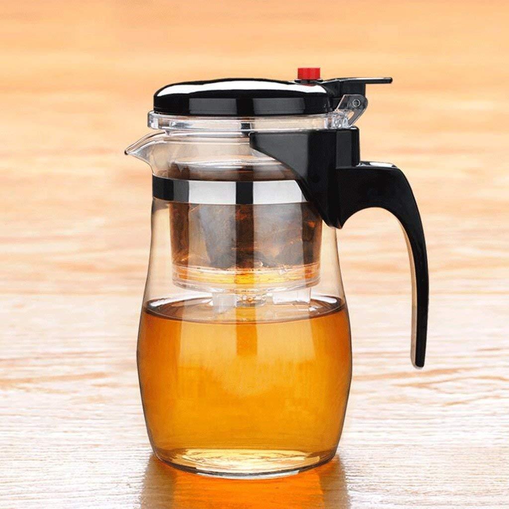 Kinue Exquisite Tea Cups Saucers Set Set Coffee Cup Washable Elegant Cup Teapot Glass Filter Tea Pot Tea Mug High Temperature Exquisite Cup 800ML UOMUN (Color : 1 Pot)
