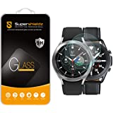 (3 Pack) Supershieldz Designed for Samsung Galaxy Watch 4 Classic (46mm) / Galaxy Watch 3 (45mm) Tempered Glass Screen Protec