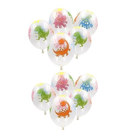 Amazon.com: SUSHAFEN - 10 globos de dinosaurio transparente ...