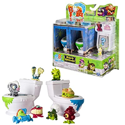 Spin Master - Series 1 - Bizarre Bathroom Collectible 8-Pack Figures (Color/Styles May Vary): Toys & Games