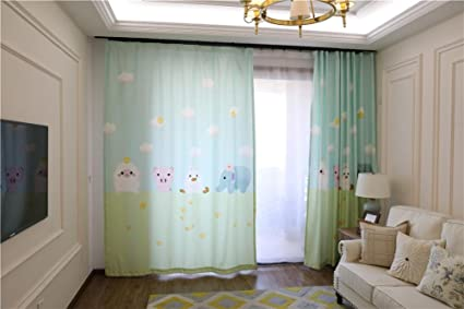 Tende per bambini animali d cartoon stampa semi shading drape