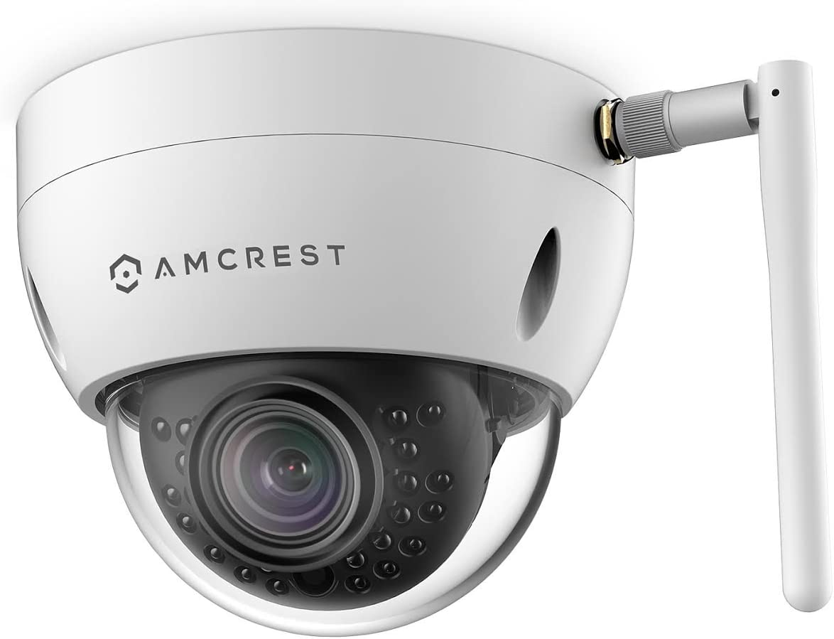 Amcrest ProHD Fixed Outdoor 3-Megapixel 2304 x 1296P Wi-Fi Vandal Dome IP Security Camera – IP67 Weatherproof, IK10 Vandal-Proof, 3MP 1080P 1296P , IP3M-956W White