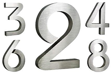 número de casa de acero inoxidable V2 A Altura 20 cm/250 mm ...