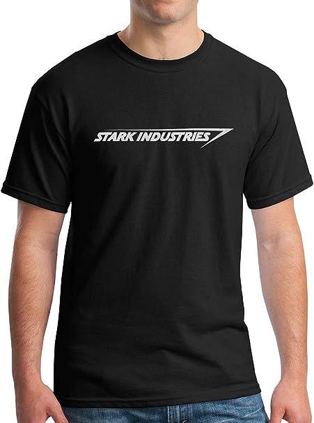 11408c9d0d1a Amazon.com: Stark Industries T-Shirt Iron Tee Black S: Clothing