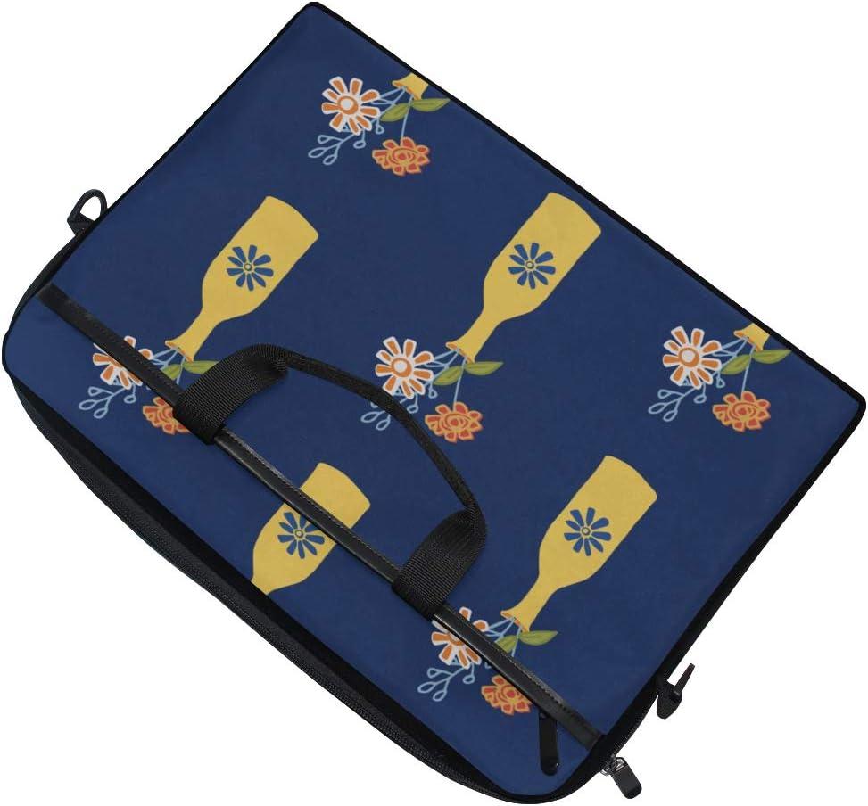 Briefcase Messenger Shoulder Bag for Men Women College Students Business People Office Wor Laptop Bag Cartoon Flower Vases 15-15.4 Inch Laptop Case