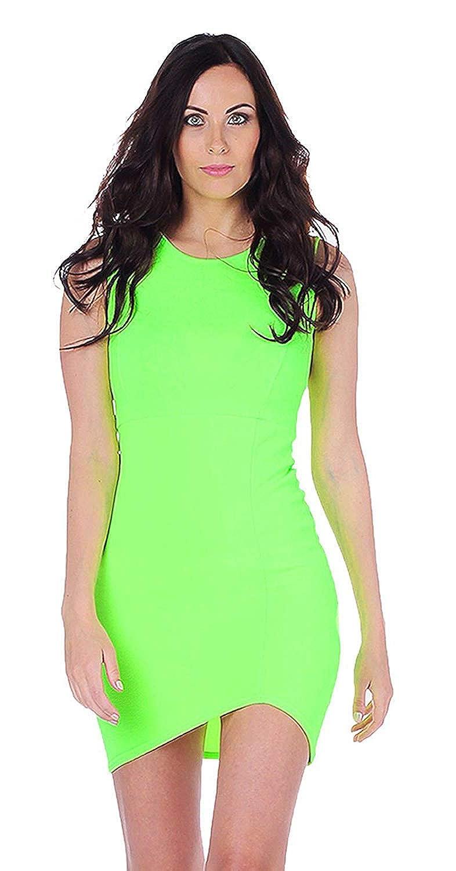 Amazon.com  Womens Chloe Sleeveless Lime Green Bodycon Dress (STY) ((us 6)  (uk 10) 18eaf6cafe