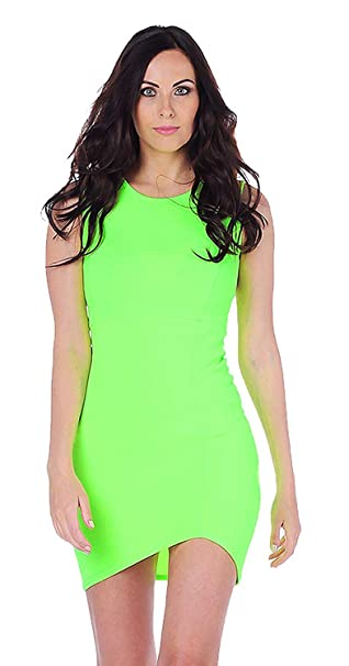 6d47f0a776 Amazon.com: Womens Chloe Sleeveless Lime Green Bodycon Dress (STY) ((us 6)  (uk 10), lime green): Clothing