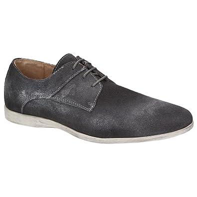Roberto Ravenelli Herren Leder Schuhe Derby Schnürschuhe, Braun, Schuhgröße:42