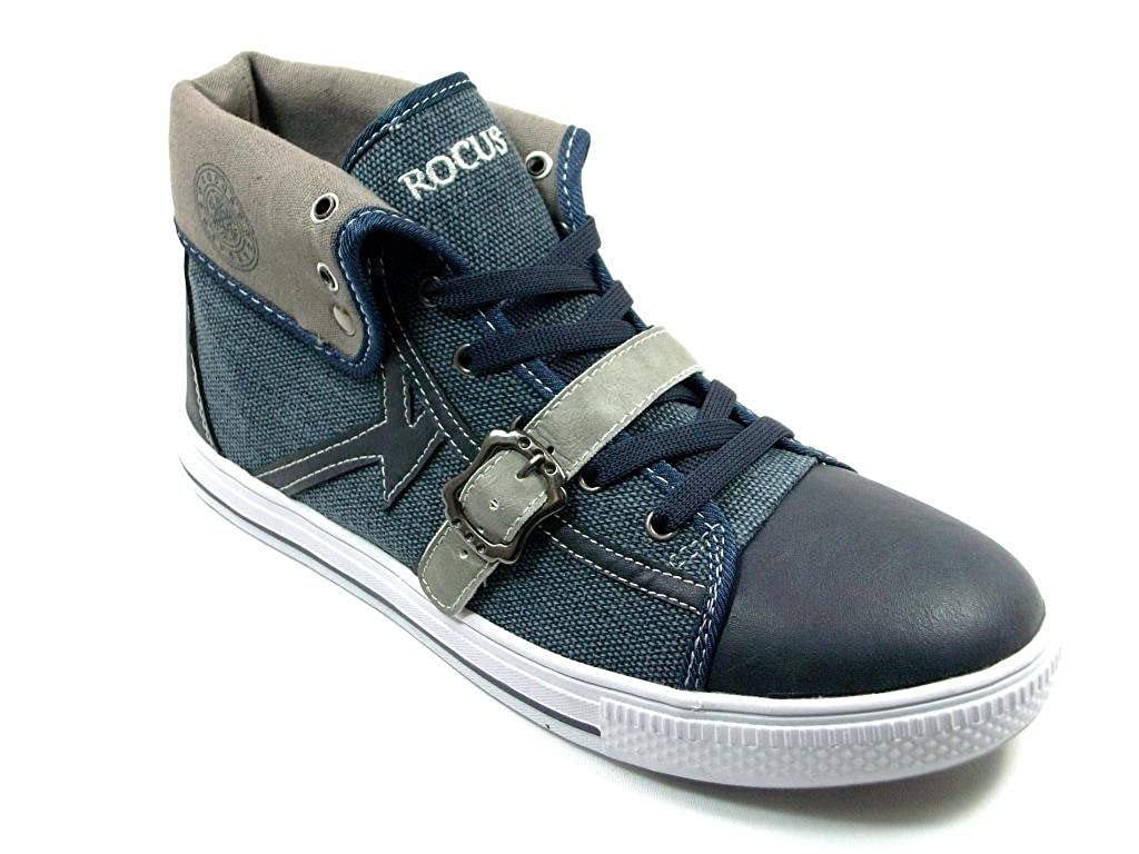 Rocus Mens GF-03 High Top Lace Up Casual Sneaker Boots