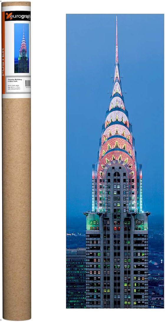 EuroGraphics New York - Chrysler Building Poster, 35.5 x 11.75 inch