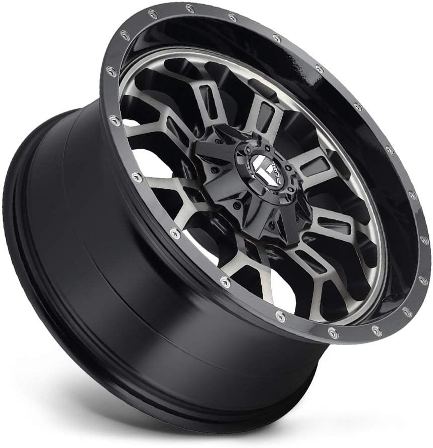 Fuel Offroad D561 CRUSH MACHINED Wheel with Painted 20 x 9. inches //8 x 180 mm, 20 mm Offset