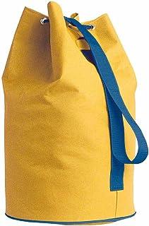 sacca borsa con corda in nylon 600D per palestra,piscina,mare,campeggio 3 colori (blu)