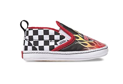 553be7c20e Vans Infant Toddler Race Flame Slip on V Crib Kids Baby Shoe (1 M