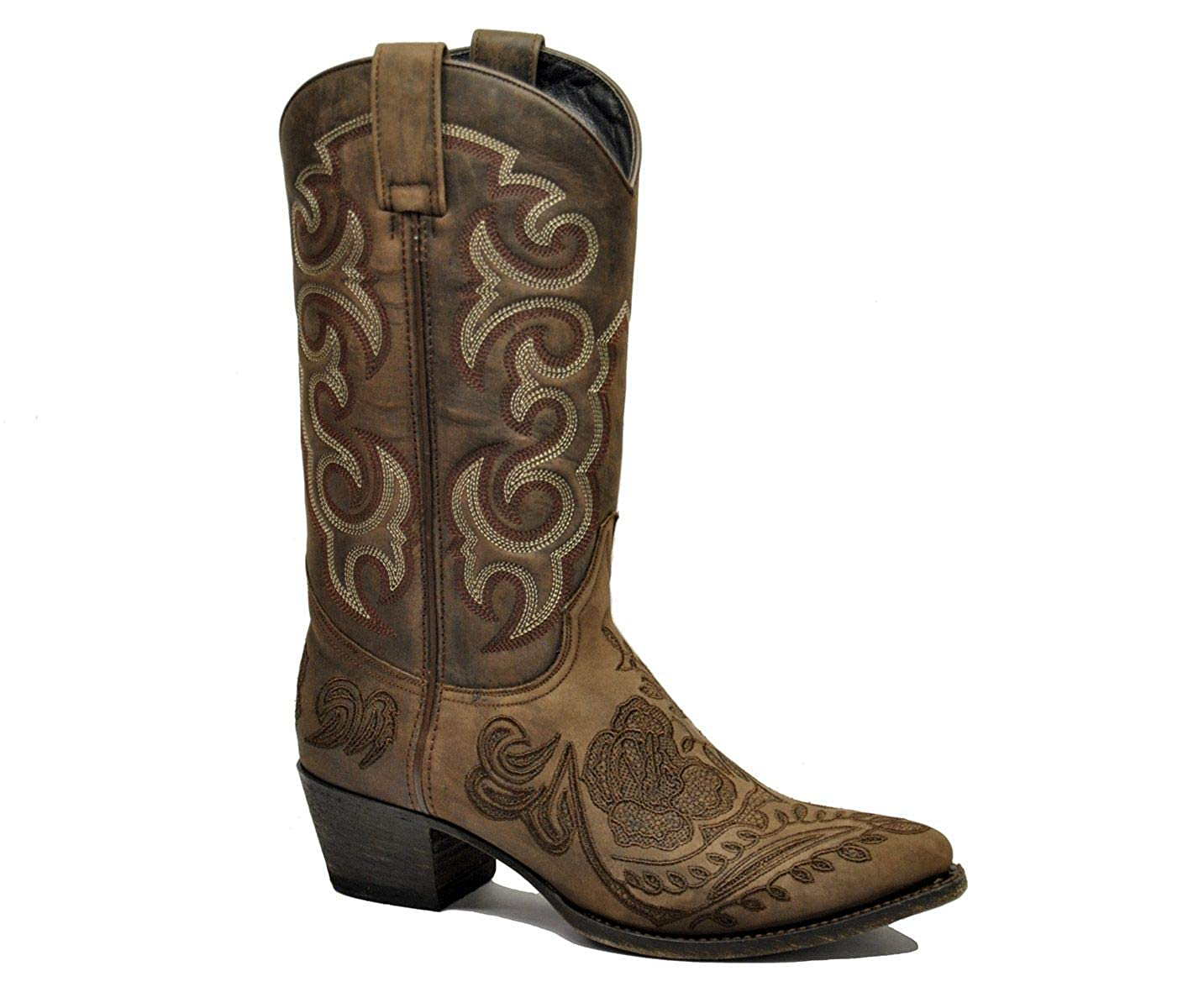 - Sendra Women's 14605BROWN Brown Leather Boots