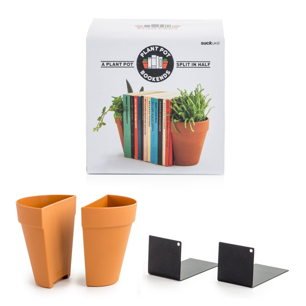 Suck UK Fermalibri Vaso per Piante, Terracotta, 1 NA
