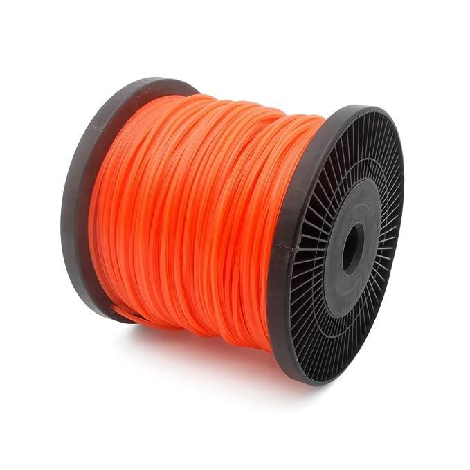 FEPITO M/ähfaden rund orange 2,4 mm x 96 m Trimmerfaden Freischneider Faden