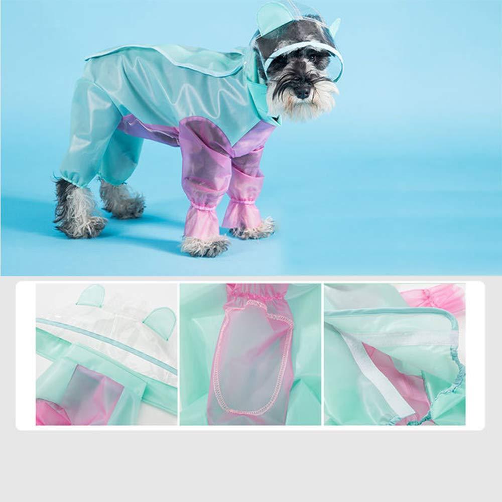 2  Medium 2  Medium Dog Raincoats Waterproof, Transparent Plastic Poncho Raincoat, Lightweight Packable Outdoor Dog Hooded Raincoat for Small Or Medium Dogs,2 ,M