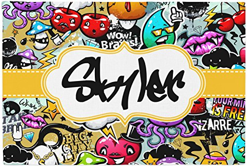 Graffiti Placemat (Fabric) (Chick Personalized Placemat)