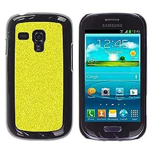 Caucho caso de Shell duro de la cubierta de accesorios de protección BY RAYDREAMMM - Samsung Galaxy S3 MINI NOT REGULAR! I8190 I8190N - Pattern Grain Bling Rich Yellow
