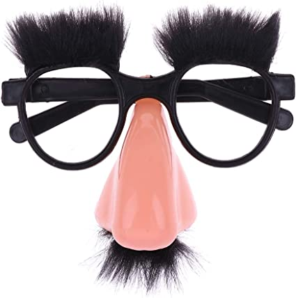 Fancy Cosplay Disguise Moustache Glasses Halloween Party Dress Big Nose