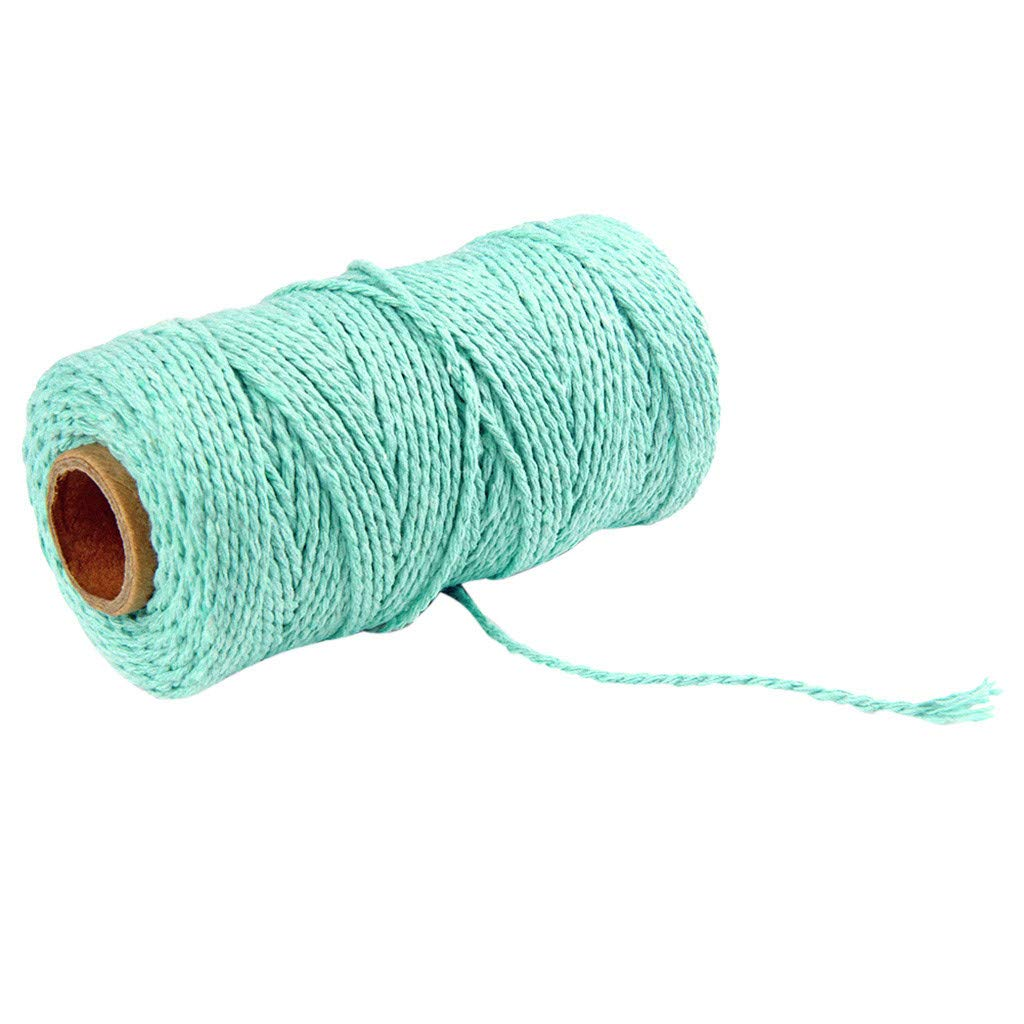 Crafts Knitting Plant Hangers Decorative Projects Baikk Macrame Cord 100m Long//100Yard Strong Knotting Macrame Rope Soft Cotton Cord for Wall Hanging