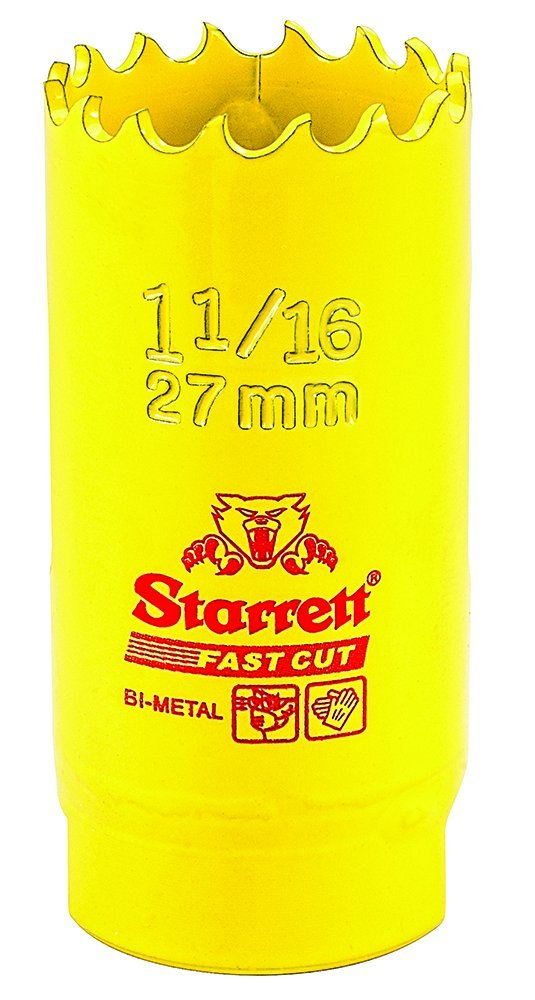 Starrett 63FCH027 - Corona perforadora (27 mm) color amarillo FCH0116-G