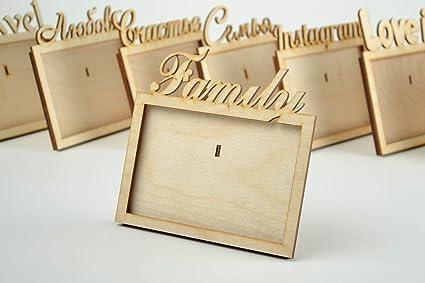 Marco de fotos de madera hecho a mano en blanco para pintar en blanco para decoupage