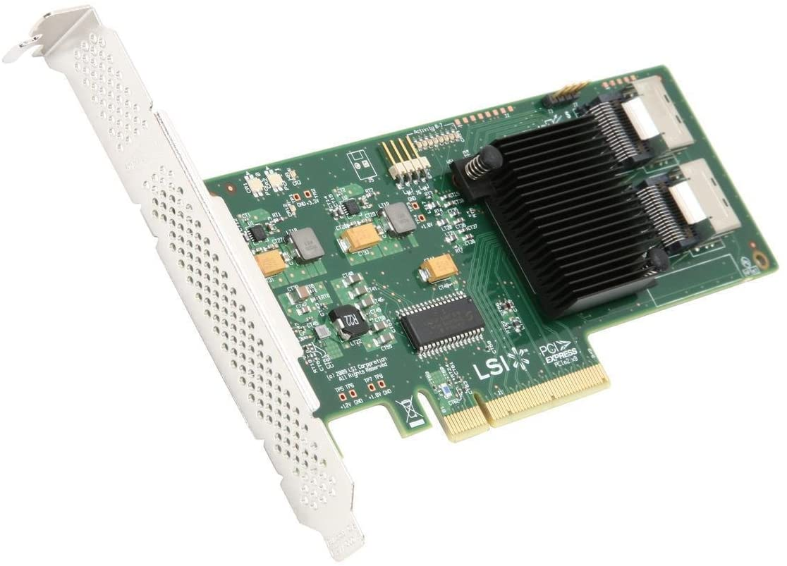 LSI 6Gb//s SAS PCIe2 x8 Host Bus Adapter HBA SAS9211-8i