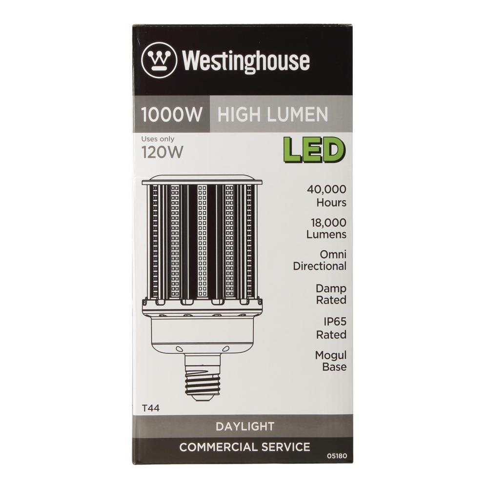 Westinghouse Lighting 0518000 120-Watt T44 Daylight High Lumen LED Light Bulb with Mogul Base - - Amazon.com
