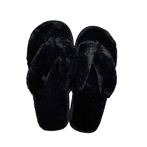 d61dc1d643d906 Ancous Women s New Plush flip-flop indoor slippers Thong Slipper 5 5.5 UK(