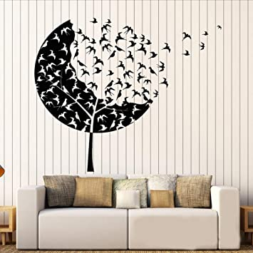 dbbf9f0b8e Smydp Bird Group Wall Decal Forest Tree Wall Stickers Kindergarten Swallow  Stickers Children's Room Decoration 74X90Cm